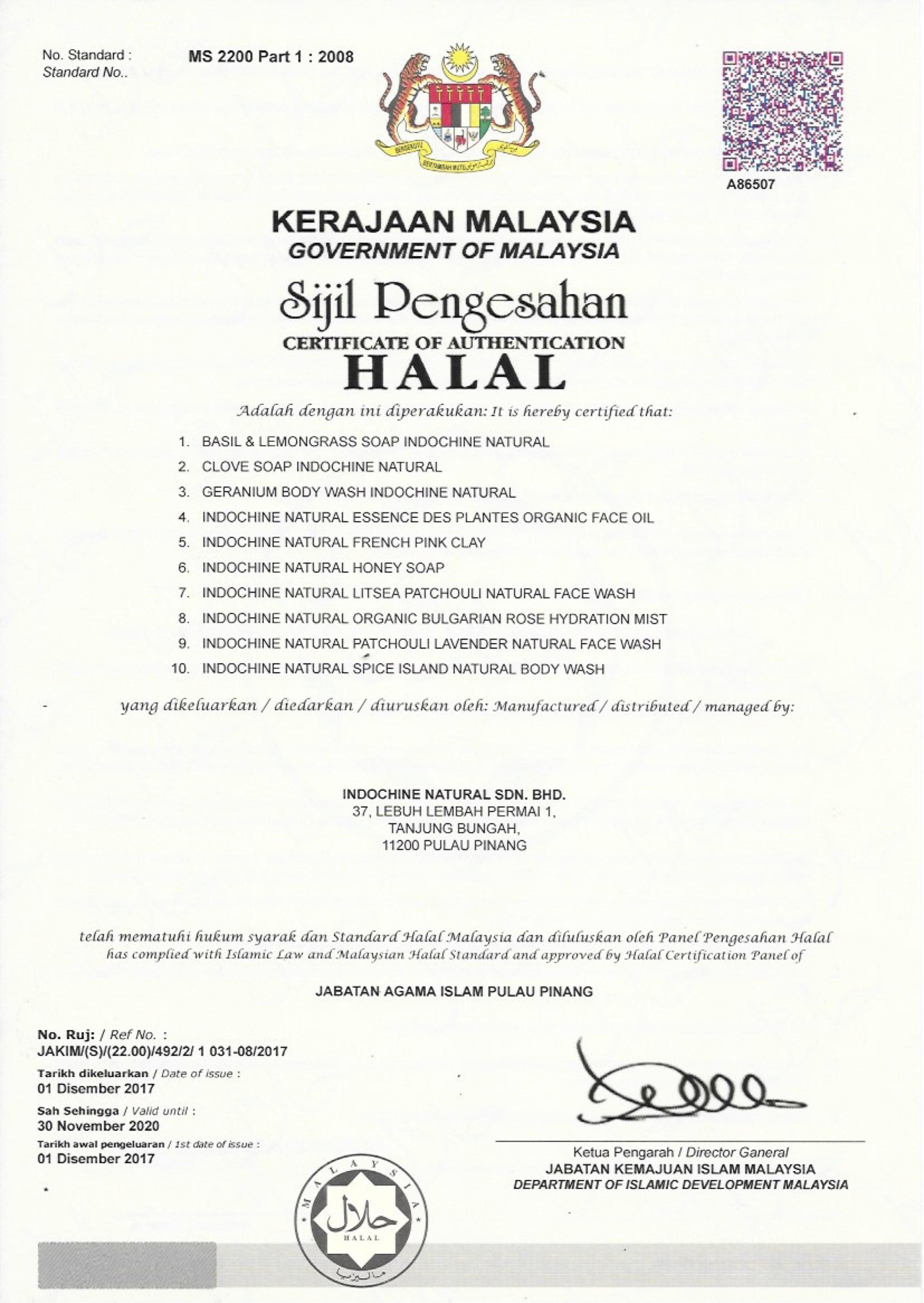 Chứng nhận tiêu chuẩn HALAL